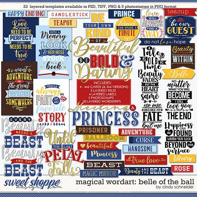 Cindy's Magical Wordart: Belle of the Ball by Cindy Schneider