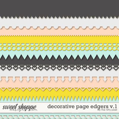 DECORATIVE PAGE EDGERS V.1 | CLIPPING MASKS by The Nifty Pixel