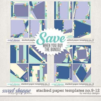 Stacked paper templates no: 9-12 by WendyP Designs