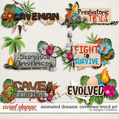 Animated Dreams: cavemen Word Art by Meagan's Creations