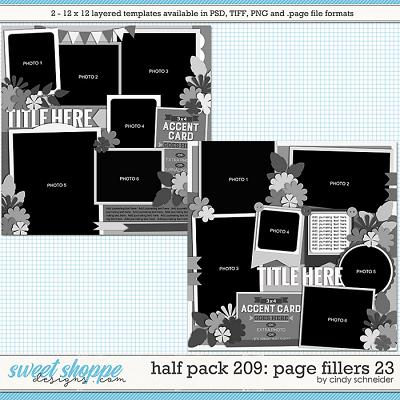 Cindy's Layered Templates - Half Pack 209: Page Fillers 23 by Cindy Schneider
