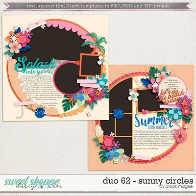 Brook's Templates - Duo 62 - Sunny Circles by Brook Magee