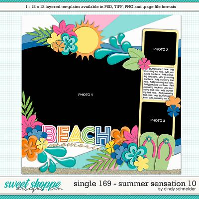 Cindy's Layered Templates - Single 169: Summer Sensation 10 by Cindy Schneider