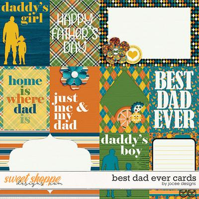 Best Dad Ever Cards by JoCee Designs