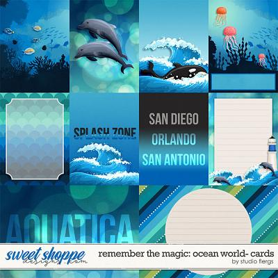 Remember the Magic: OCEAN WORLD- CARDS by Studio Flergs