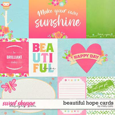 Beautiful Hope Cards by Misty Cato