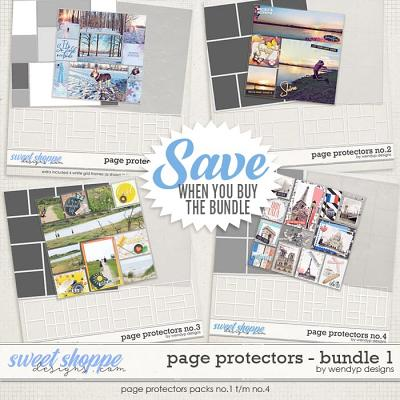 Page Protectors Bundle 1 by WendyP Designs