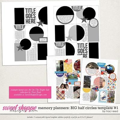 Memory Planners - Big - Half Circles #1 by Traci Reed