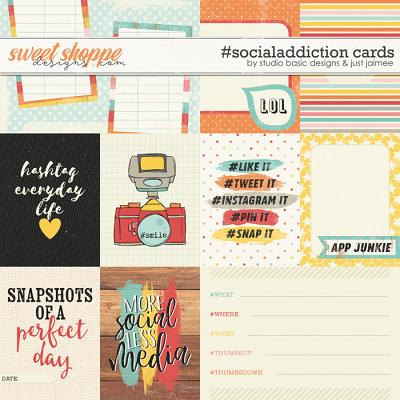 #socialaddiction Cards by Studio Basic and Just Jaimee