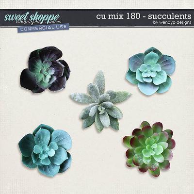 CU Mix 180 - succulents by WendyP Designs