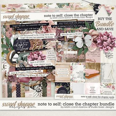 Note To Self: Close The Chapter Bundle by Kristin Cronin-Barrow & Studio Basic