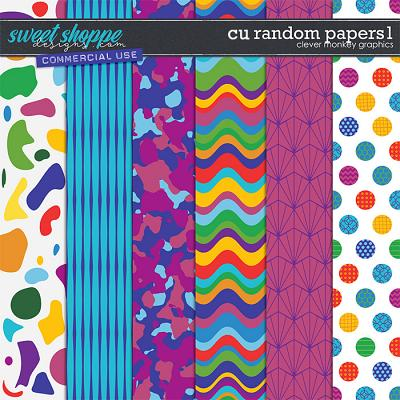 CU Random Papers 1 by Clever Monkey Graphics
