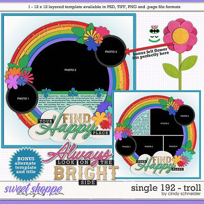Cindy's Layered Templates - Single 192: Troll by Cindy Schneider