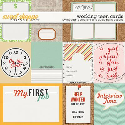 Working Teen : Cards by Meagan's Creations & Studio Basic Designs