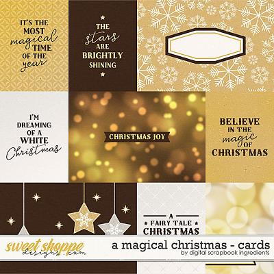 A Magical Christmas | Cards by Digital Scrapbook Ingredients