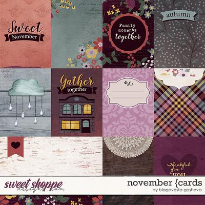 November {cards} by Blagovesta Gosheva