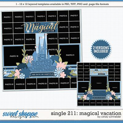 Cindy's Layered Templates - Single 211: Magical Vacation by Cindy Schneider