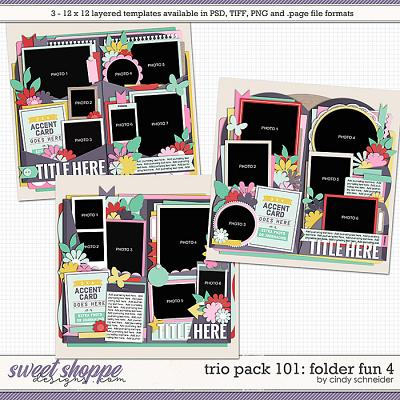 Cindy's Layered Templates - Trio Pack 101: Folder Fun 4 by Cindy Schneider