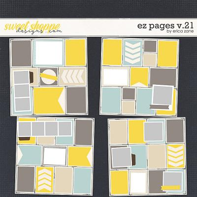 EZ Pages v.21 Templates by Erica Zane