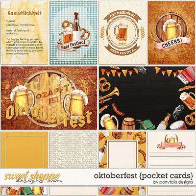 Oktoberfest Pocket Cards by Ponytails