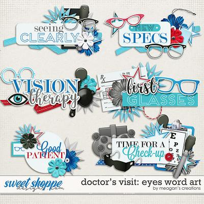Doctor's Visit: Eyes Word Art by Meagan's Creations