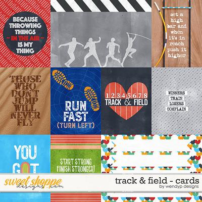 Track & field - Cards 1 by WendyP Designs