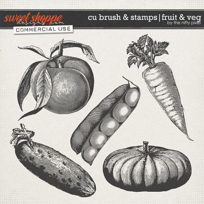 CU BRUSH & STAMPS | FRUIT & VEG by The Nifty Pixel