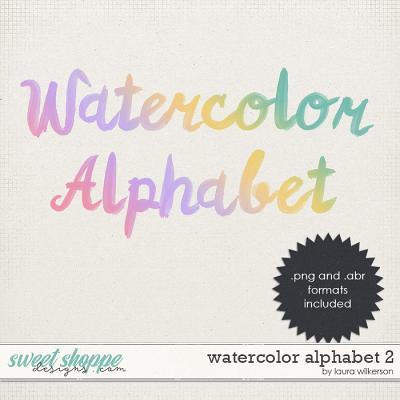 Watercolor Alphabet 2 by Laura Wilkerson