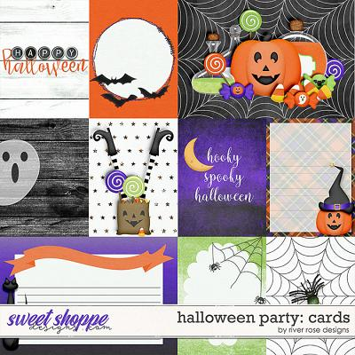 Halloween Party: Cards by River Rose Designs