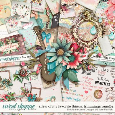 a few of my favorite things trimmings bundle: Simple Pleasure Designs by Jennifer Fehr
