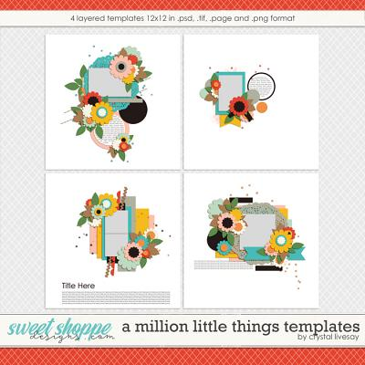 A Million Little Things Templates by Crystal Livesay
