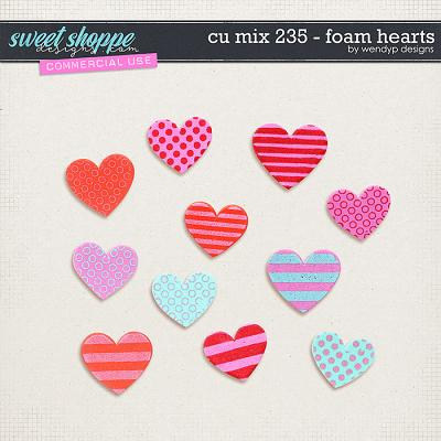 CU Mix 235 - Foam Hearts by WendyP Designs