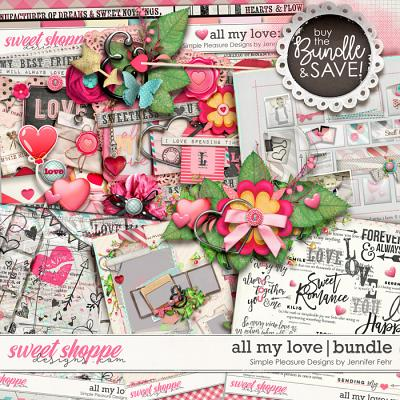 all my love bundle: simple pleasure designs by jennifer fehr