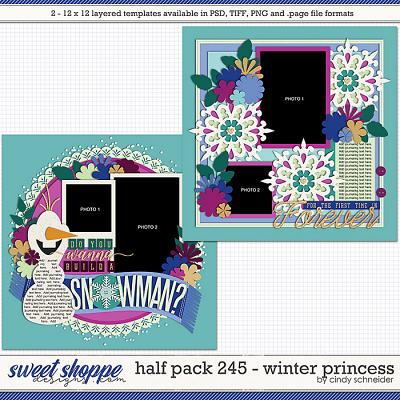 Cindy's Layered Templates - Half Pack 245: Winter Princess by Cindy Schneider