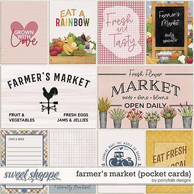 Farmer's Market Pocket Cards by Ponytails
