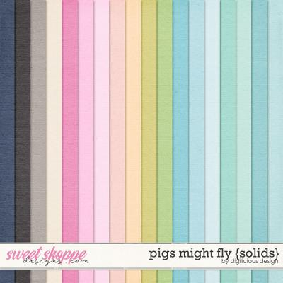 Pigs Might Fly {Solids} by Digilicious Design