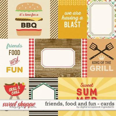 Friends, Food And Fun | Journal Cards by Digital Scrapbook Ingredients