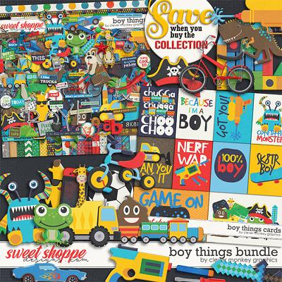 Boy Things Bundle by Clever Monkey Graphics