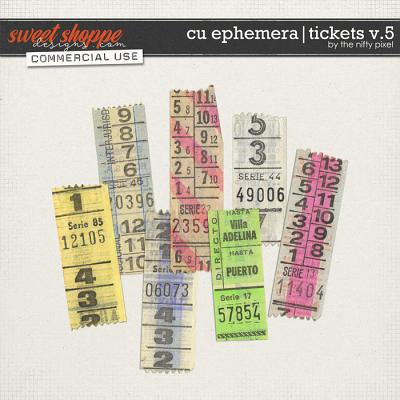 CU EPHEMERA | TICKETS V.5 by The Nifty Pixel