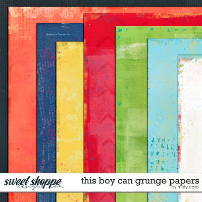This Boy Can Grunge Papers by Misty Cato