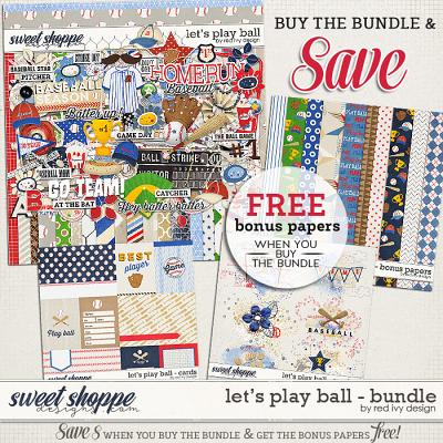 Let's Play Ball - Bundle by Red Ivy Design