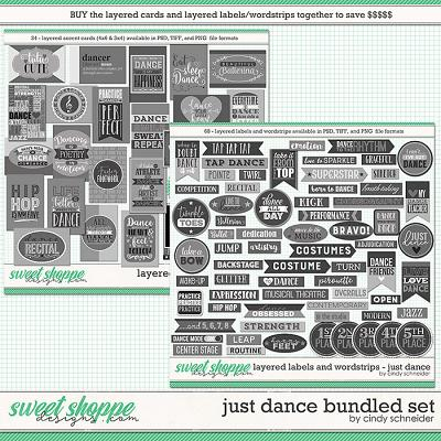 Cindy's Layered Templates: Just Dance Bundled Set by Cindy Schneider