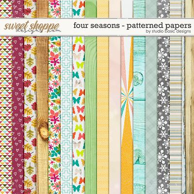 Four Seasons Patterned Papers by Studio Basic