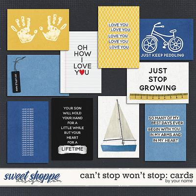 CAN'T STOP WON'T STOP {pocket cards} by Janet Phillips