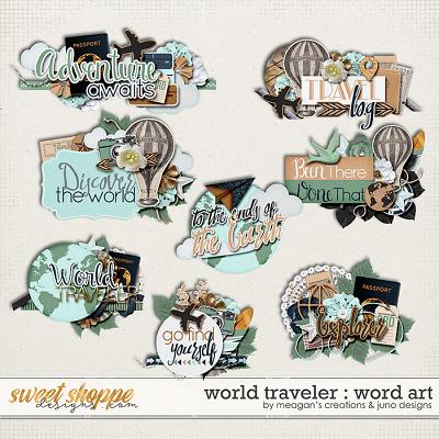 World Traveler : Word Art by Meagan's Creations