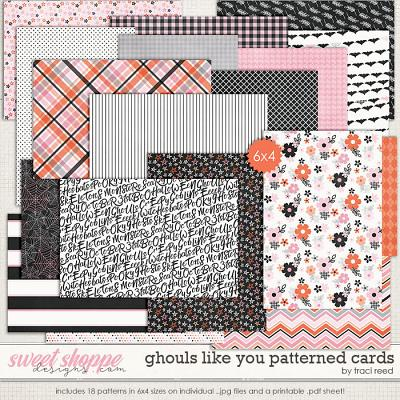 Ghouls Like You: Patterned 4x6s by Traci Reed