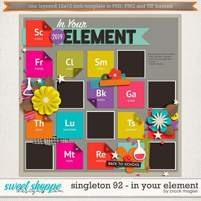 Brook's Templates - Singleton 92 - In your Element by Brook Magee