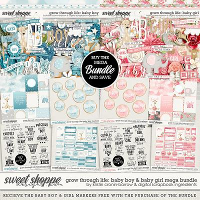 Grow Through Life - Baby Boy & Girl Mega Bundle & *FWP* by Kristin Cronin-Barrow & Digital Scrapbook Ingredients