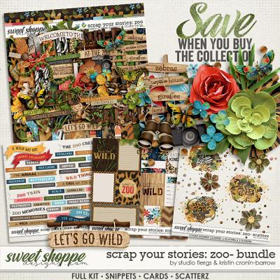 Scrap Your Stories: Zoo- BUNDLE by Studio Flergs & Kristin Cronin-Barrow