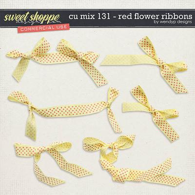 CU Mix 131 - Red flower ribbons by WendyP Designs